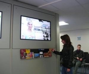 Digital Signage, digitale Bildschirmwerbung von UNICARDS