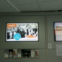 Bremer Abfallkalender auf Digital Signage Kampagne